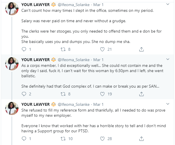 Lawyer narrates how she began battling with PTSD after working with a SAN who had a