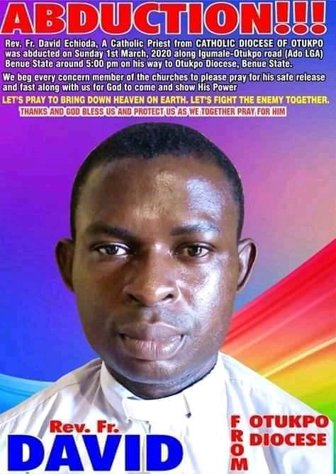 Gunmen abduct Catholic priest in Benue state