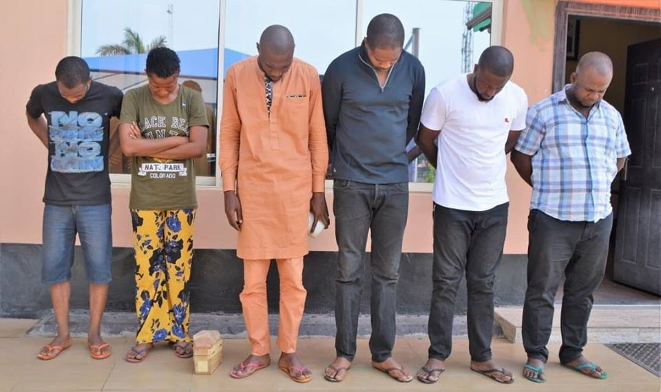 EFCC arrests suspected internet fraudsters with mini coffin