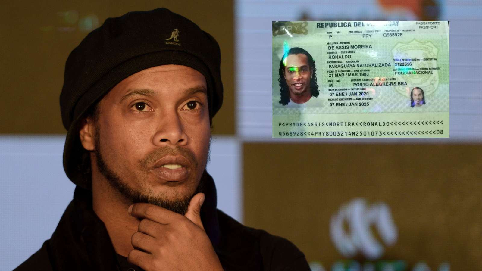 Ex-footballer Ronaldinho arrested by police for entering Paraguay with a fake passport