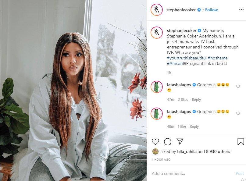 Stephanie Coker reveals she had her baby through IVF