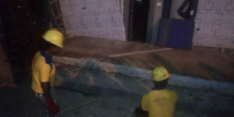 Laborer dies as bank building collapses in Lagos (photos)