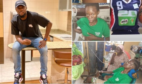 Super Eagles player John Ogu pays $1000 for treatment of Nigerian basketball player Debora Onah who's down with Spinal tuberculosis (photos)