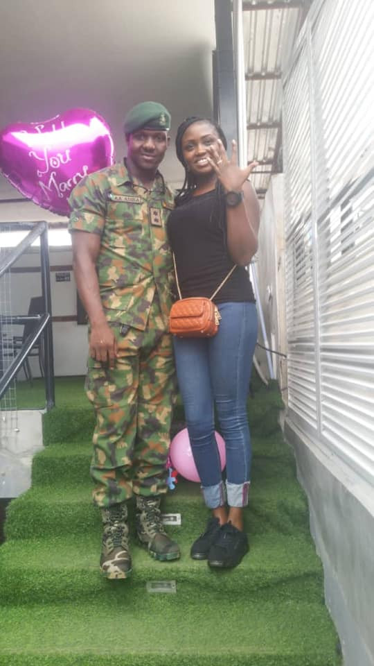 Nigerian Army officer pens down heart-melting birthday message to his wife (photos)