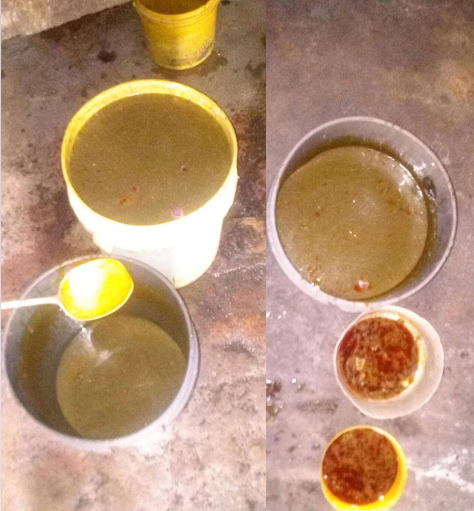 Activist draws attention to the poor watery soup allegedly served to inmates in Kaduna Prison