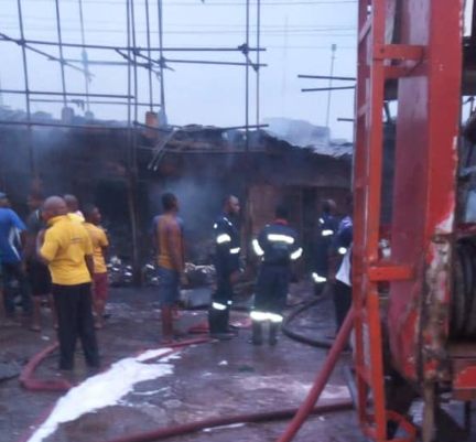 Building material market in Anambra gutted by fire (photos)