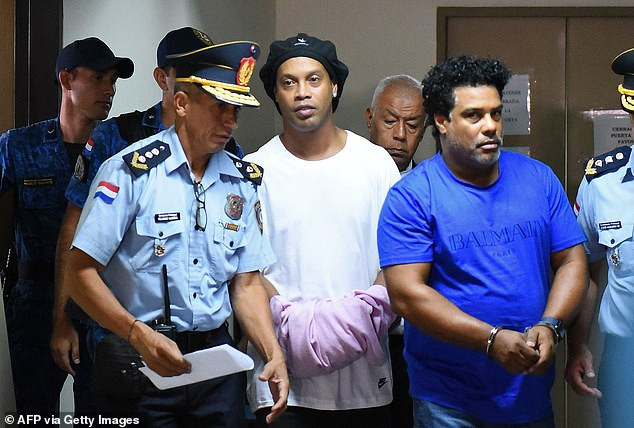 Football legend, Ronaldinho is refused house arrest as he remains in maximum security prison in Paraguay for using fake passport