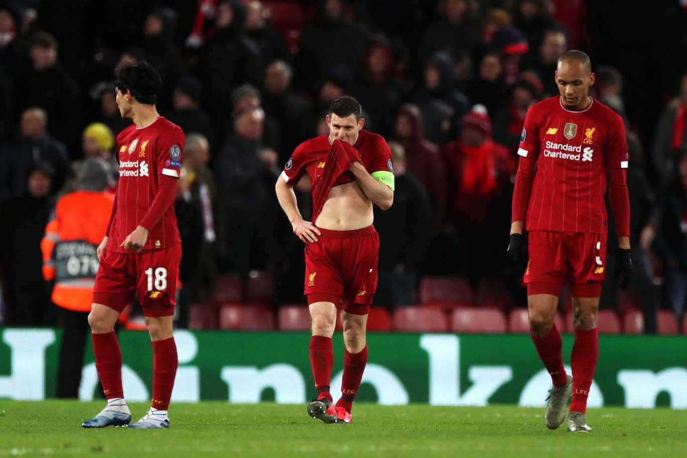 Twitter users roast Liverpool squad after Liverpool's 3-2 loss to Atletico Madrid as defending champions exit UEFA Champions League