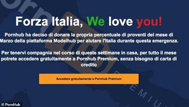 Porn site offers Italians free access to all its contents after lockdown over coronavirus