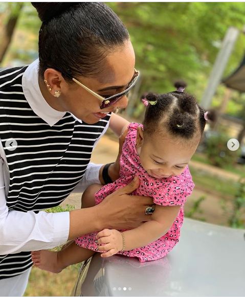 Adorable new photos of Tboss and her baby daughter