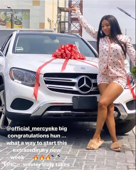 BBNaija 2019 winner, Mercy Eke gets a Mercedes Benz gift (video)