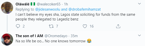 Nigerians tackle Lagos governor, Babajide Sanwo-Olu after he asked for donations for Abule Ado explosion victims