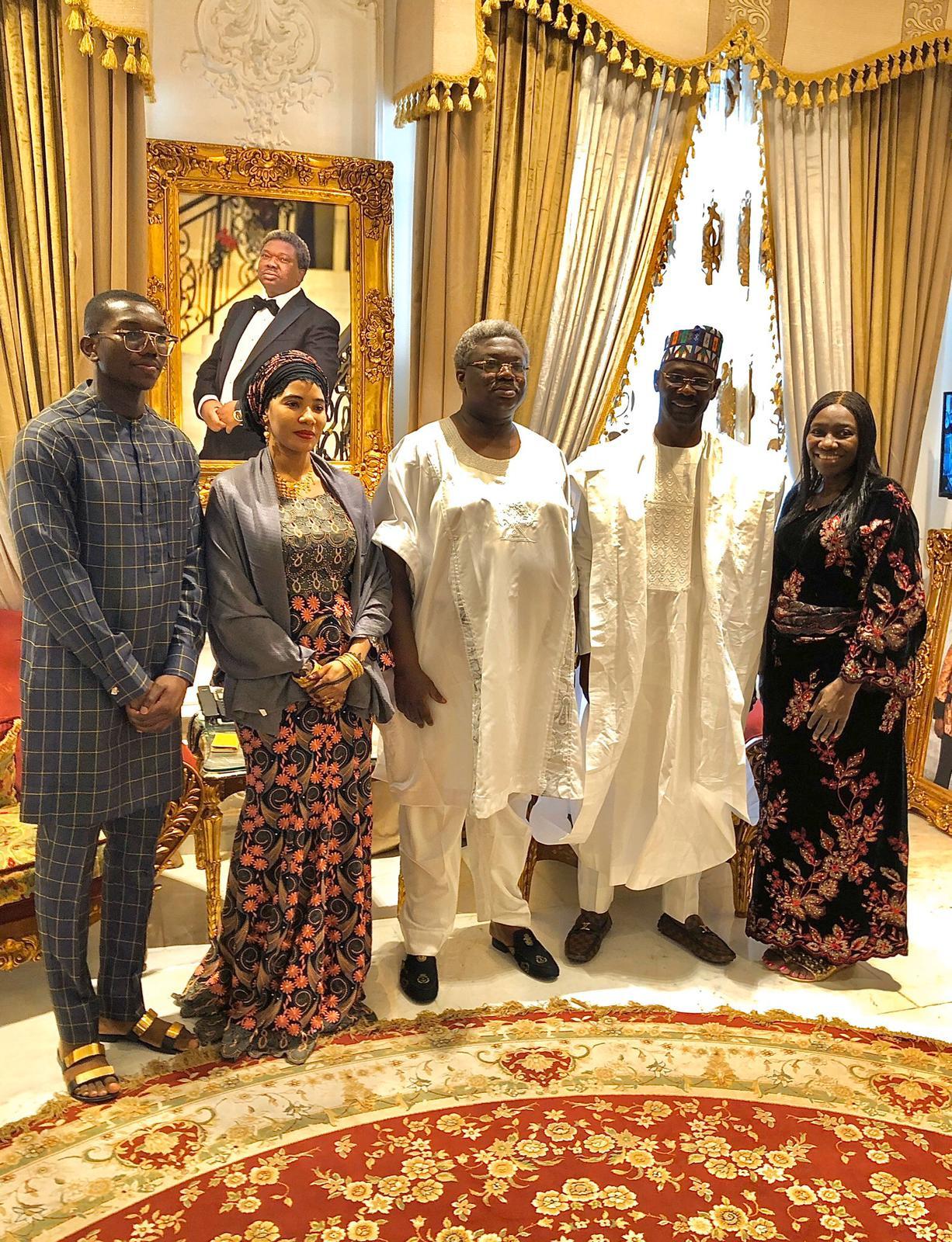 Sir Olu Okeowo receives Governor Abdullahi Sule of Nasarawa State at his palace