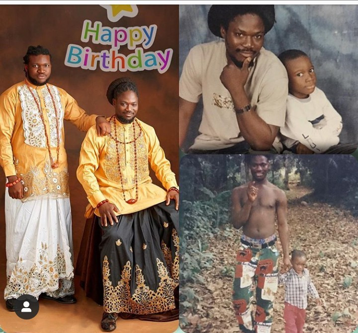 Daddy Showkey releases new photos to celebrate his son as he turns 23