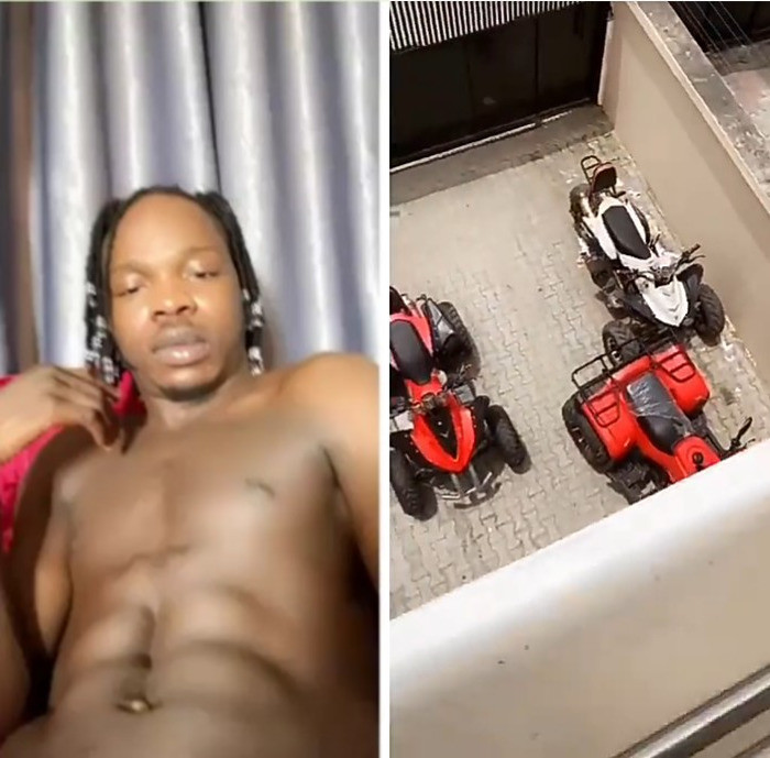 """Do you want all or some? Naira Marley asks as he teases fans with his abs and quad bikes (video)"