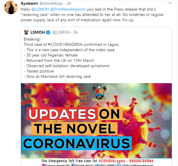 We were told UK isn?t high risk - Nigerian man calls out NCDC for delaying response after friend who became third case of coronavirus in Nigeria arrived