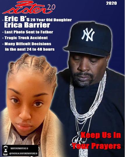 Hip-hop legend Eric B.?s daughter Erica Barrier dies after car crash