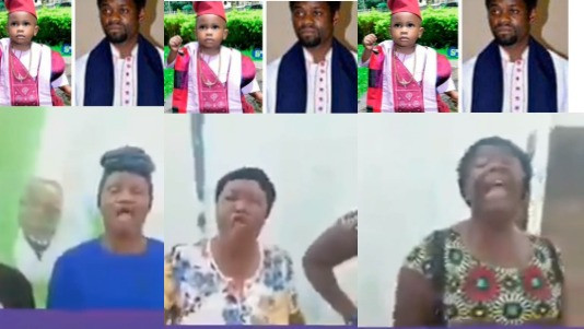 Female members of Sotitobire church place curses on parents of missing child that led to the arrest of their Pastor (video)
