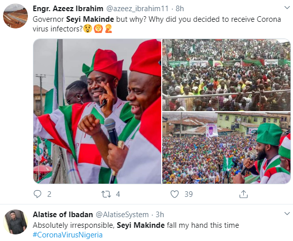 Oyo state governor, Seyi Makinde trends on Twitter as he