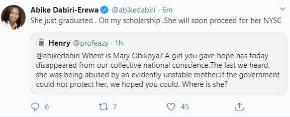 "Mary Obikoya, the ""Miracle Baby"" who 3 women claimed as theirs in 1995, is now a graduate - Abike Dabiri reveals"