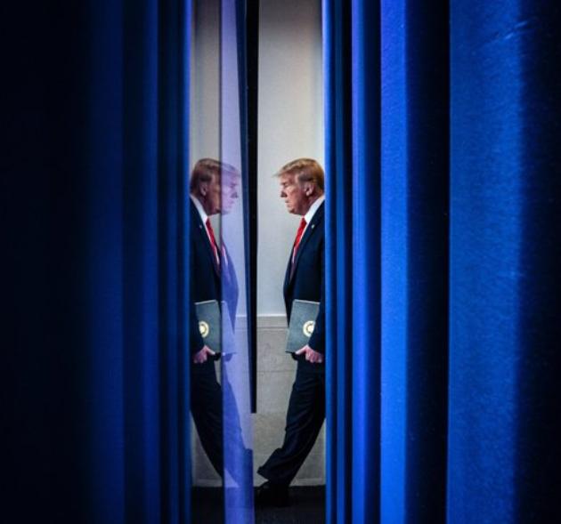 Close-up of Donald Trump