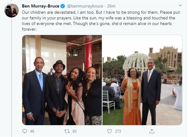 Ben Murray-Bruce loses his wife, Evelyn to cancer