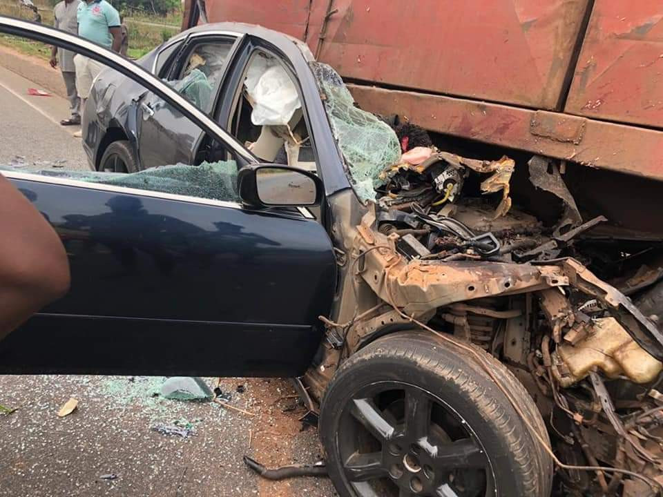 Rangers striker, Ifeanyi George and two other players killed in tragic car crash?along Benin-Ore road (Graphic Photos)