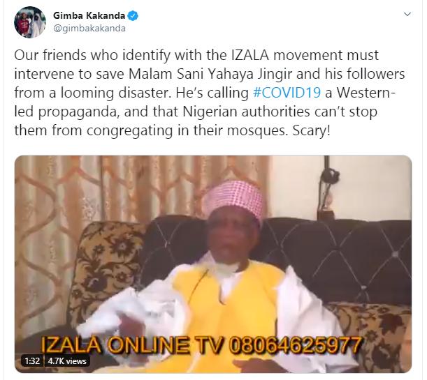 Nigerian Muslim leader calls coronavirus a