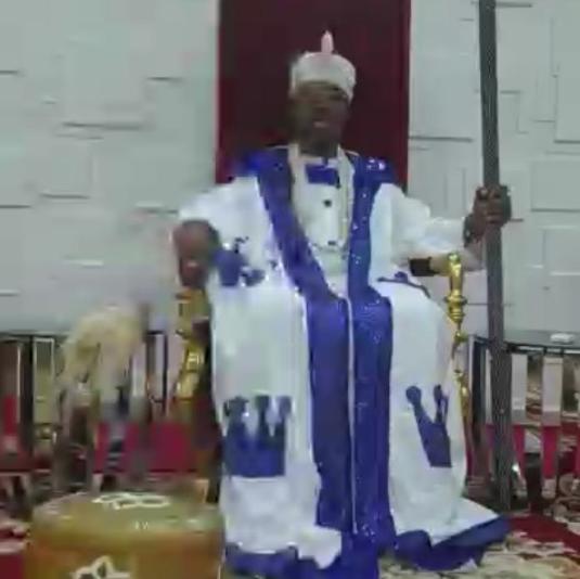 Oluwo of Iwo issues spiritual warrant of arrest for Coronavirus (video)