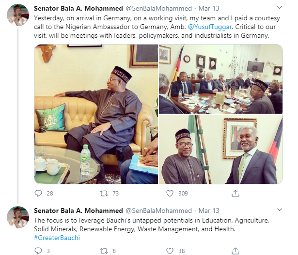 Coronavirus: I never shook hands with Governor Bala Mohammed of Bauchi State ? Atiku?s son
