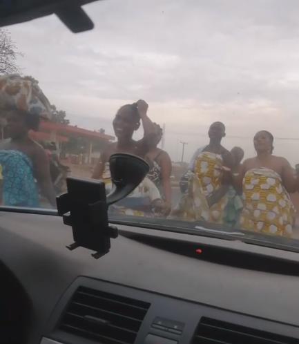 "Women in Ogun state parade topless as they make ""sacrifice to send away coronavirus"" (video)"