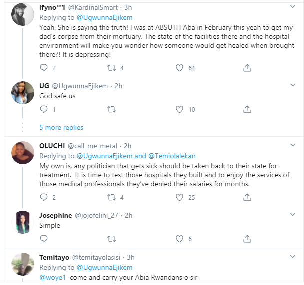 Nigerian doctor reveals her mother who is also a Doctor just received her December 2018 salary from Abia State Government