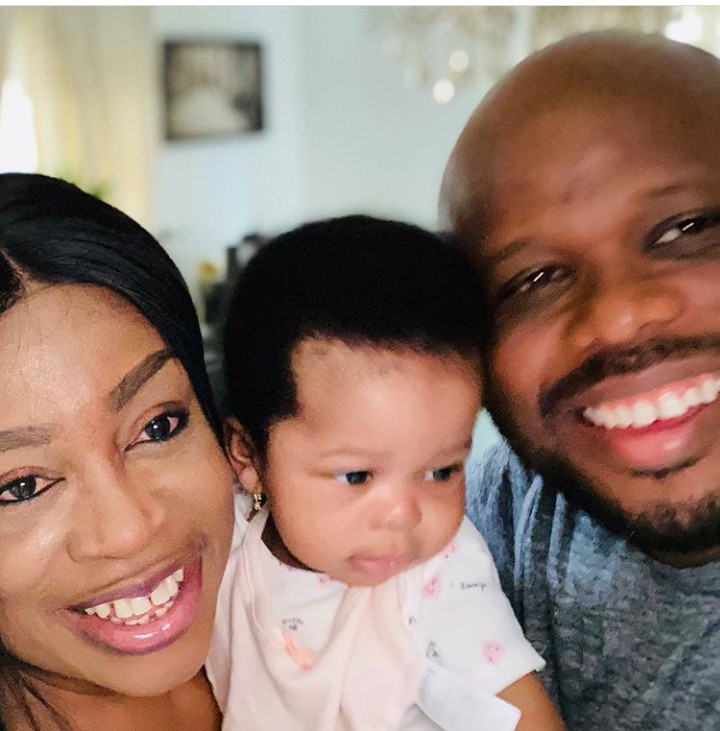 Sinach shares adorable photo of her daughter and husband