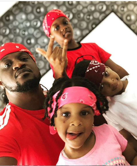 Adorable photos of Paul Okoye and his children