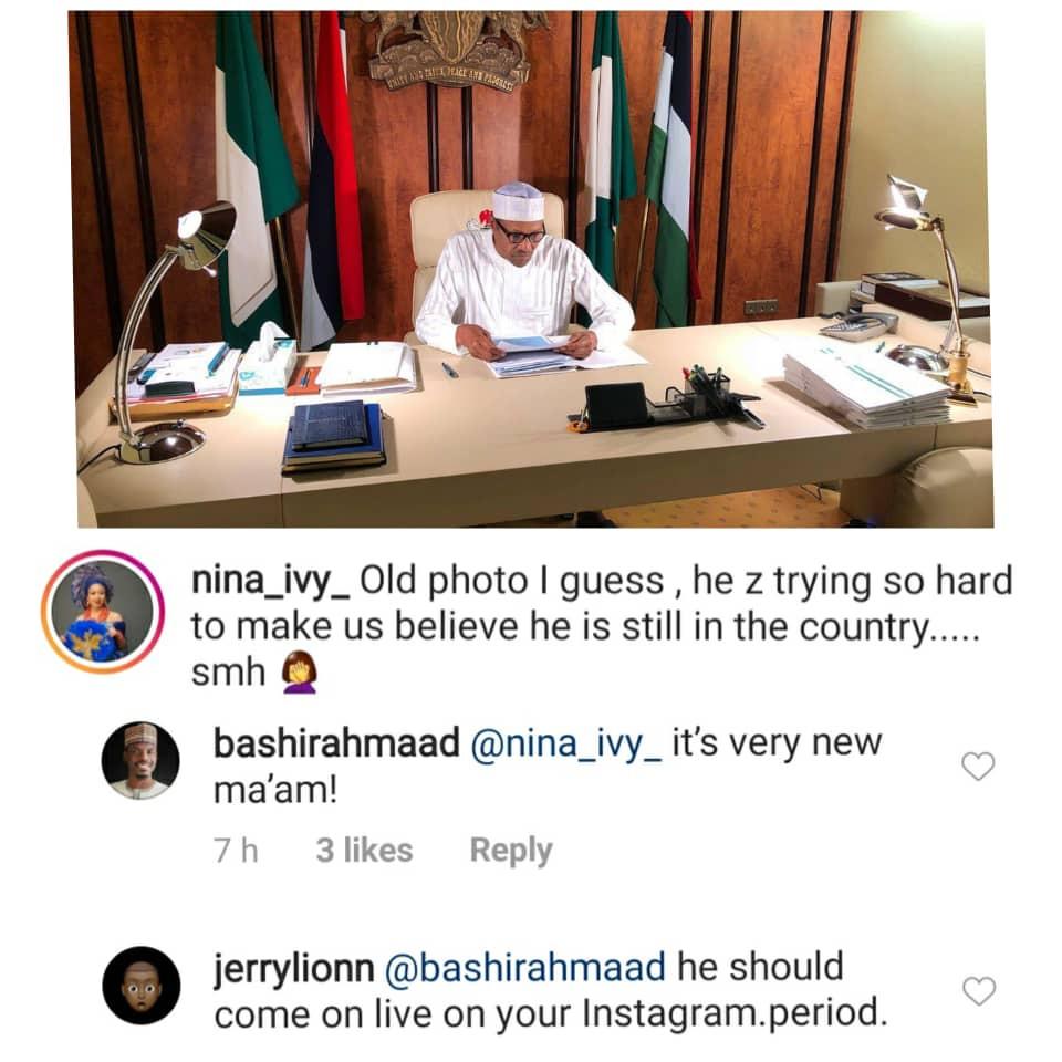 Presidential aide, Bashir Ahmad counters Nina
