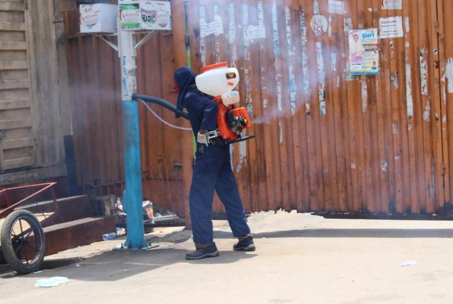 Coronavirus: Lagos govt fumigates markets in the state (photos)
