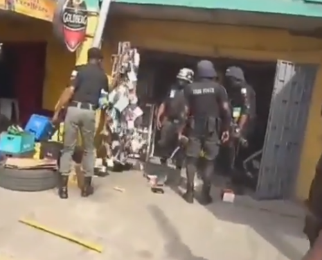 IGP Adamu Mohammed orders disciplinary action be taken against policemen spotted in a viral video destroying items in Lagos shops (video)