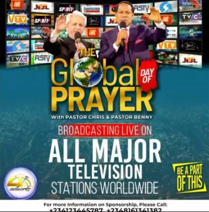 COVID-19: Pastors Chris, Benny Hinn lead 2 billion people in world largest prayer event today