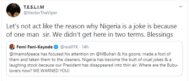 Nigeria is not a joke because of one man - Rapper, Vector tackles FFK, Imam of Peace and northerners