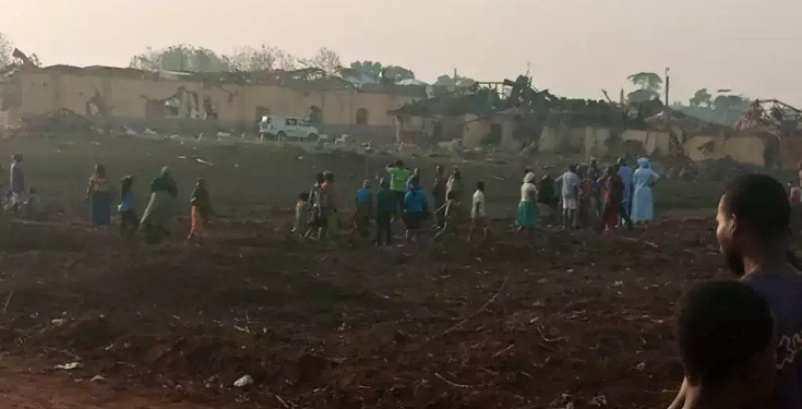 Explosion rocks Akure, 100 buildings allegedly affected (photos/video)