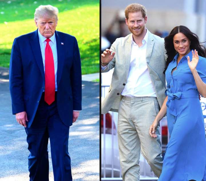 Prince Harry and Meghan Markle respond to President Trump after he said they must pay for their own security in the US
