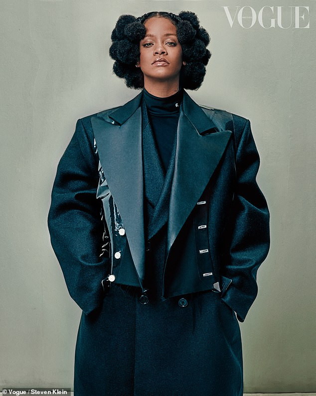 Rihanna vows to have four kids with or without a partner as she graces the cover of British Vogue