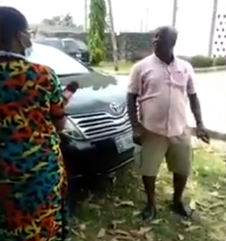 Let her go and die in my house - Nigerian dad threatens to take his daughter out of an isolation center over poor treatment by staff (video)