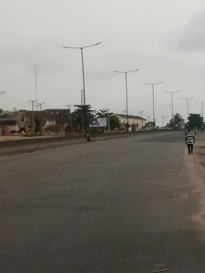Photos: Lagos and Abuja streets deserted as lockdown begins