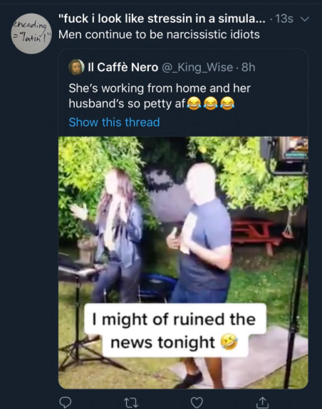 Cute or disrespectful? Opinions divided as husband crashes wife
