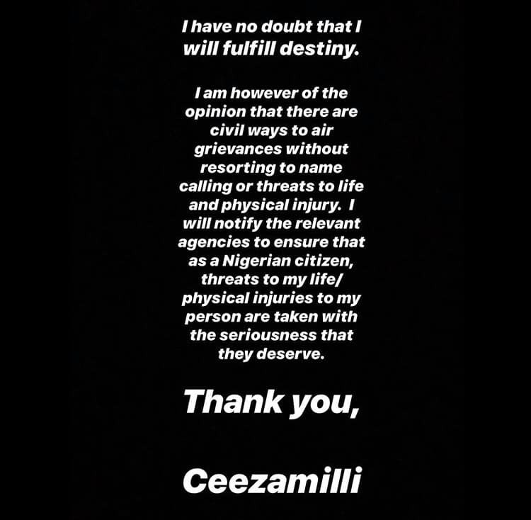 Just pray Coronavirus catches you before I catch you - Burna Boy slams Ceezamilli after he revealed that he