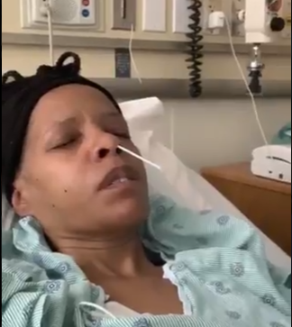 Woman shows what the Corona Virus test feels like by sharing a video of her getting tested