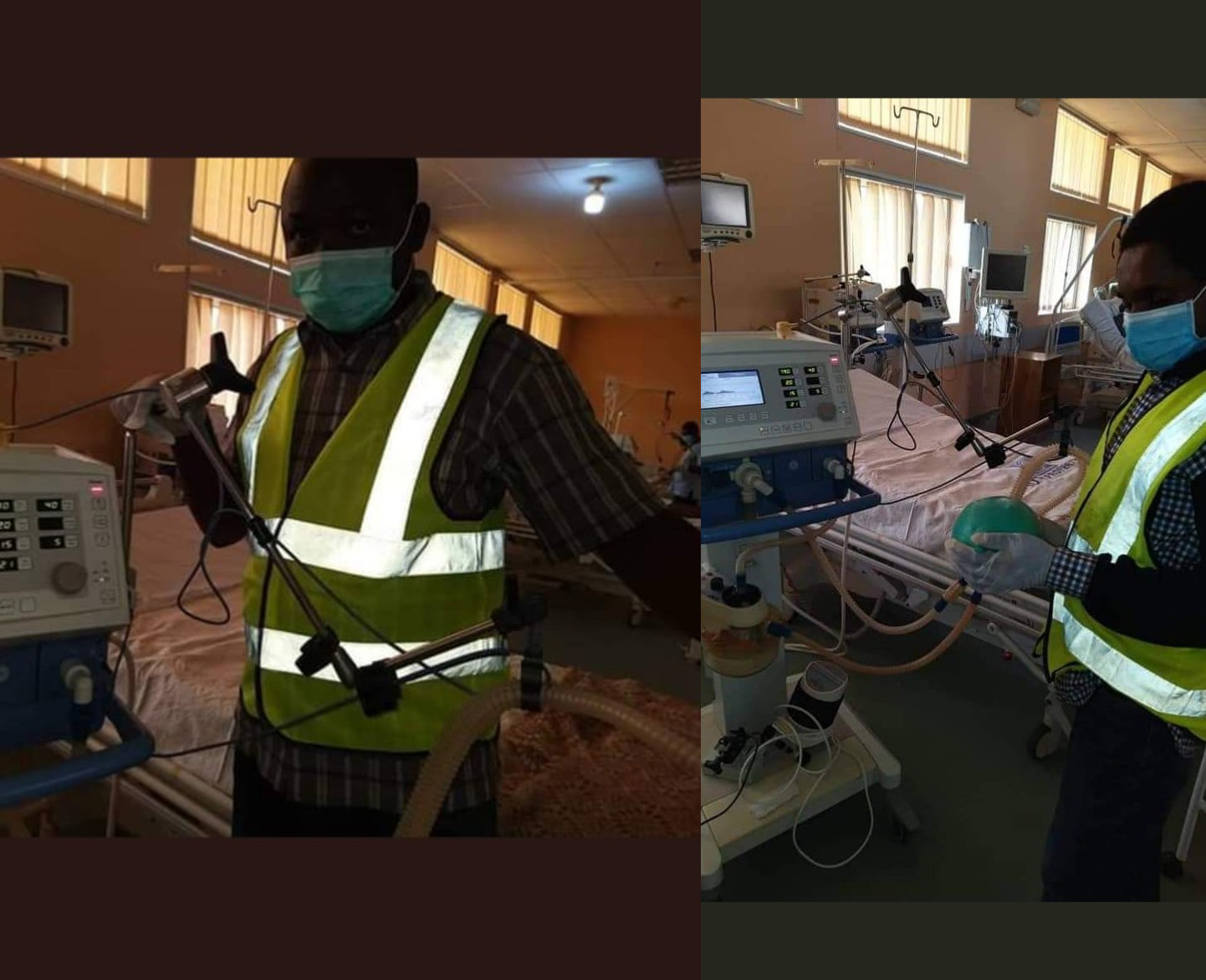 Two Nigerian men hailed as heroes after they fixed faulty ventilators for free as their contribution to curb Coronavirus