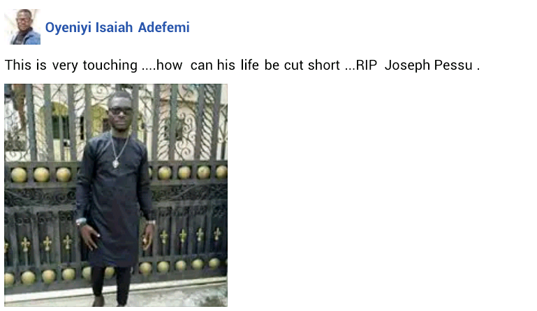 Update: Photos of the young man shot dead by soldier enforcing lockdown order in Warri