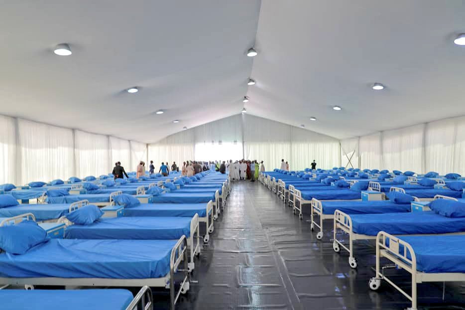 See the new Kano State Coronavirus Isolation Centre with 509 beds, toilets, laboratory, pharmacy, Ambulance & briefing room (photos)